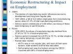 economic restructuring impact on employment