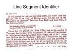 line segment identifier