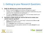 1 getting to your research questions