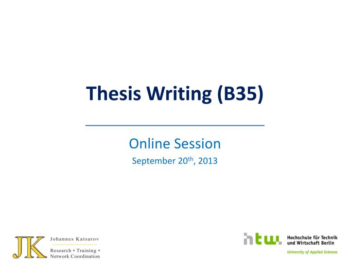 thesis writing b35 n.