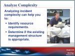 analyze complexity