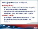 anticipate incident workload