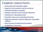 complexity analysis factors