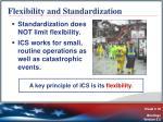 flexibility and standardization