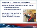 transfer of command procedures