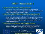 hrm host actions i