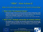 hrm host actions ii
