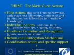 hrm the marie curie actions