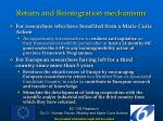 return and reintegration mechanisms