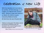 celebration of new life
