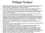 philippe tondeur