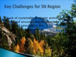 key challenges for sn region