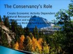 the conservancy s role1