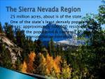 the sierra nevada region