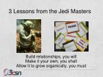 3 lessons from the jedi masters