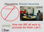 discussions shared ownership