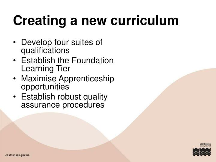 Creating a new curriculum