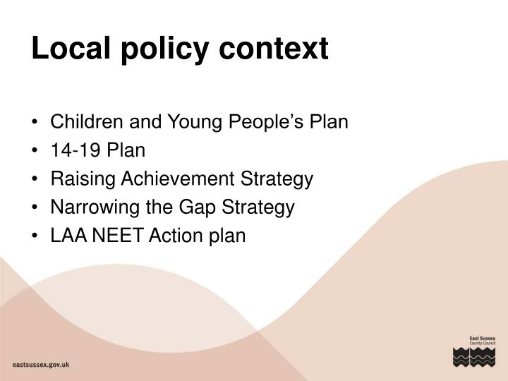 Local policy context