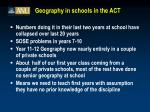 geography in schools in the act