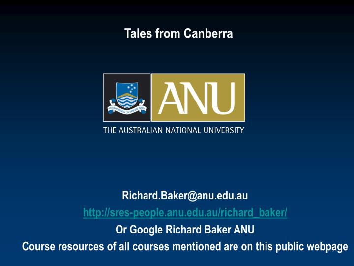 tales from canberra n.