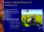 heavy vehicle access to network 5