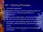 iap defining principles