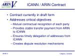 icann arin contract