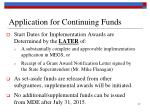 application for continuing funds1