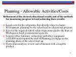 planning allowable activities costs1