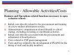 planning allowable activities costs4