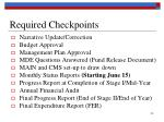 required checkpoints