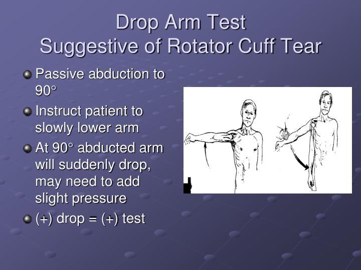Drop Arm Test