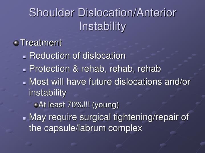 Shoulder Dislocation/Anterior Instability
