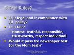 ethical rules