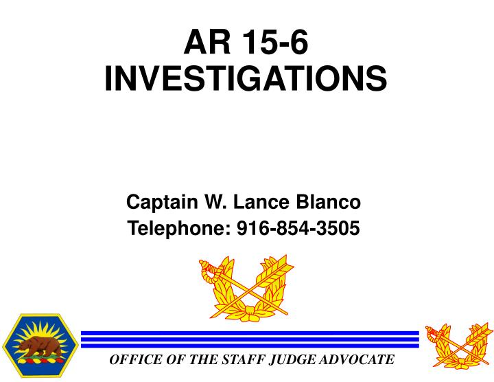 ar 15 6 investigations n.