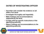 duties of investigating officer