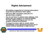 rights advisement