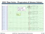 eeg time series progression of absence seizure