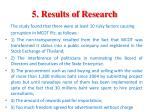 5 results of research