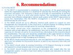 6 recommendations1