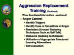 aggression replacement training continued1