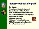 bully prevention program