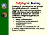 bullying vs teasing