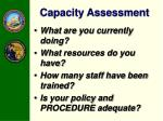 capacity assessment