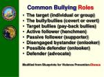 common bullying roles