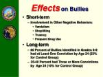 effects on bullies