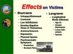effects on victims
