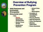 overview of bullying prevention program