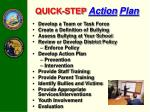 quick step action plan