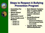 steps to respect a bullying prevention program